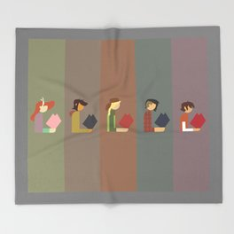 Lumber Ladies Read Throw Blanket