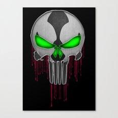 Punisher Spawn Mash-Up Canvas Print