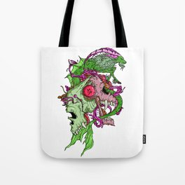 Capricorn Skull Zodiac Sign For December and January Birth Day Gift Tote Bag