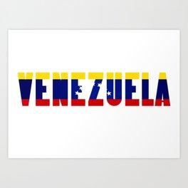 Venezuela Lettering Art Print