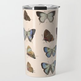 Vintage Scientific Insect Butterfly Moth Biological  Species Anatomy Illustration Travel Mug