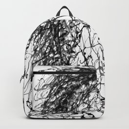 'Horse Insird by Dripped Abstract Pollock Style Backpack