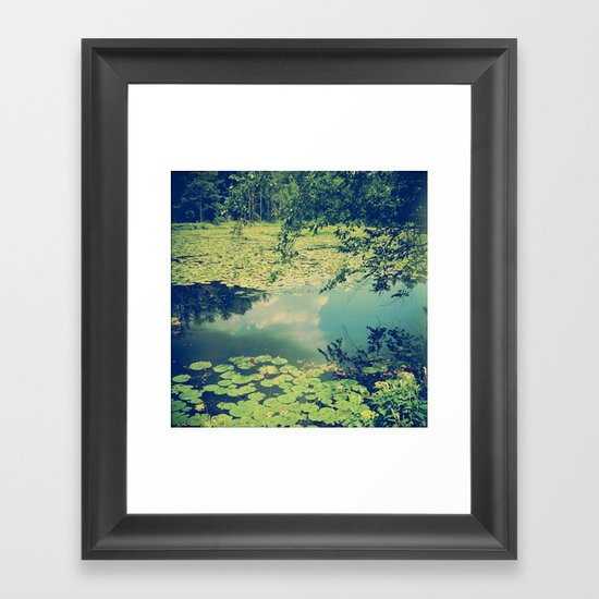 Lily Pad Pond Framed Art Print