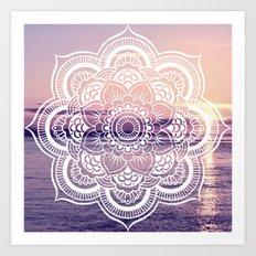 Water Mandala Amethyst & Mauve Art Print