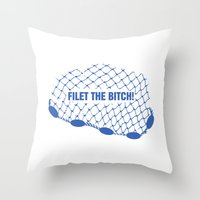regina mills Throw Pillows featuring Regina Sassy Mills | Filet the bitch! by CLM Design