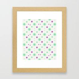 Stars Motif Multicolored Pattern Framed Art Print