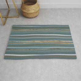 Blueprint and Stripes 2 Rug