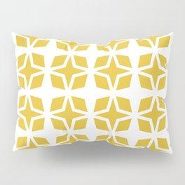 Mid Century Modern Star Pattern Mustard Yellow 551 Pillow Sham