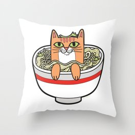Phở Cat Throw Pillow