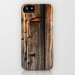 old wood table iPhone Case