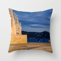 portugal Throw Pillows featuring Portugal by Sébastien BOUVIER