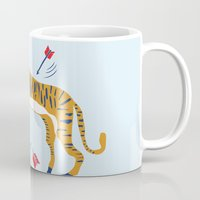 tiger Mugs featuring tiger by echo3005