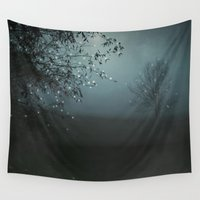 caleb troy Wall Tapestries featuring Song of the Nightbird by Monika Strigel