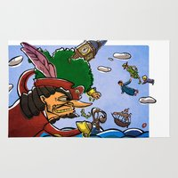 peter pan Area & Throw Rugs featuring Peter Pan by -PAPER HEART-