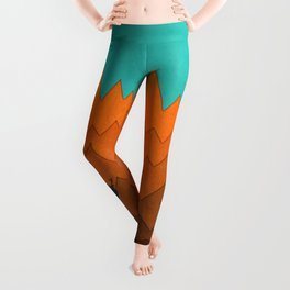 Deer silhouette in autumn Leggings