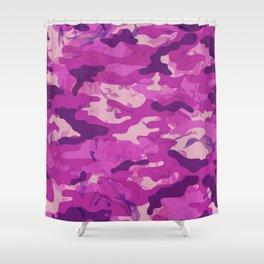 Flower Camouflage Shower Curtain