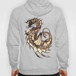 """Tsunami"" by Amber Marine ~ Sea Dragon ~ Graphite & Charcoal Illustration, (Copyright 2005) Hoody"