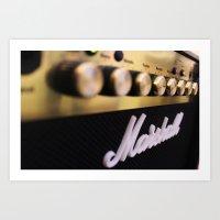 Marshall Amp Art Print