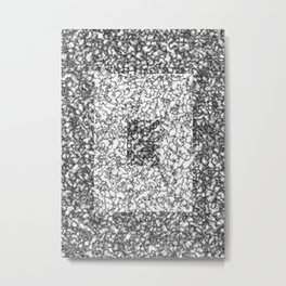 Black and white marble texture 6 Metal Print