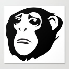 Sad Monkey Canvas Print