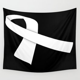 White Ribbon Wall Tapestry