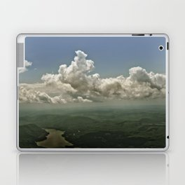 Mid hudson Valley new york state view from the air clouds landscape  Laptop & iPad Skin