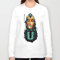 sci fi Long Sleeve T-shirts featuring BLK SCI-FI 6 by BlackKirby1
