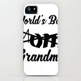 World's Best Mom Grandma - Grandma To Be iPhone Case