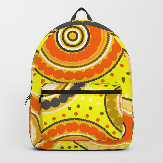 Beads and circles- aboriginal pattern Backpack