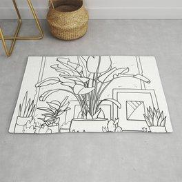 Home Plants  Rug