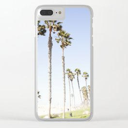 Palm Trees Swaying in the Breeze Clear iPhone Case
