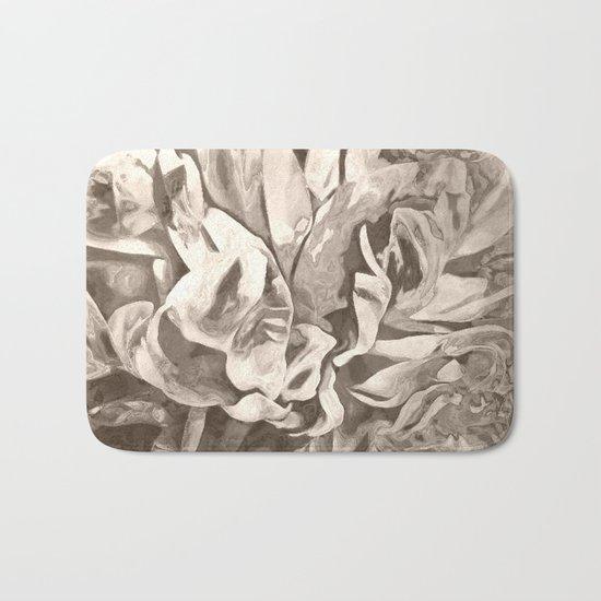 Painted Peony Sepia Cocoa Bath Mat