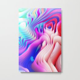 3D Abstract Metal Print