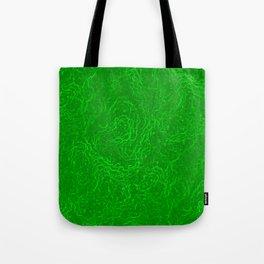 Neon Green Alien DNA Plasma Swirl Tote Bag