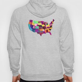 USA map art 1 #usa #map Hoody