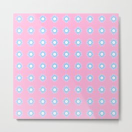 Stars 46- pink and blue Metal Print