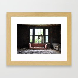 silence in the attic Framed Art Print