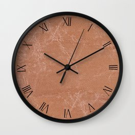 Beige canvas cloth textured abstract Wall Clock