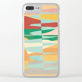 Abstract Vertical Waves Clear iPhone Case