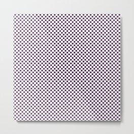 African Violet Polka Dots Metal Print