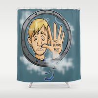 baloon Shower Curtains featuring Charlie baloon by Arry Design