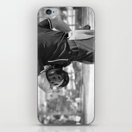 Umpire in Black and White iPhone Skin