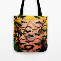 monroe Tote Bags featuring Monroe by David