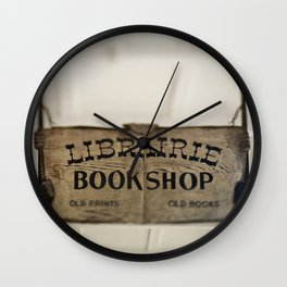 Librairie Bookshop Wall Clock