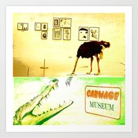 carnage Art Prints featuring Carnage Museum by Ganech joe