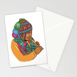 Peruvian Music Player Stationery Cards