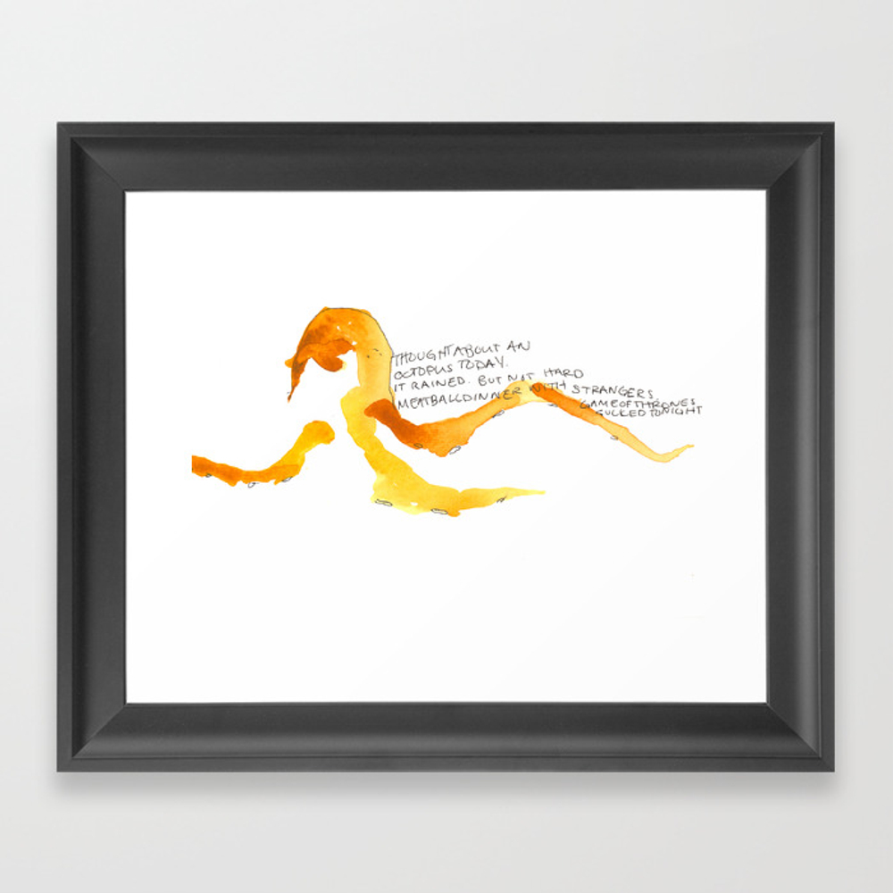 Thought About An Octopus Framed Art Print by Bmhatcher FRM8876422