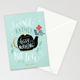 Nothing but Tea - Jane Austen Quote Stationery Cards