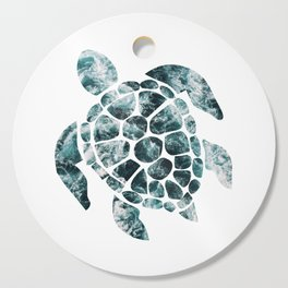 Sea Turtle - Turquoise Ocean Waves Cutting Board