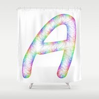 letter Shower Curtains featuring Letter A by David Zydd